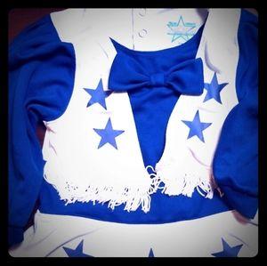 Dallas cowboy cheerleader outfit
